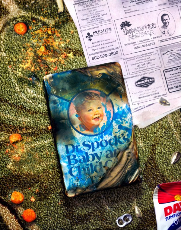 Dr. Spock Baby Book on Carpet by Mike Oncley - Raising Arizona Art - Nicolas Cage - Coen Brothers