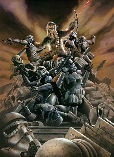 Wookiee Rage by Rian Rood - Chewbacca - Frazetta Style - star wars art