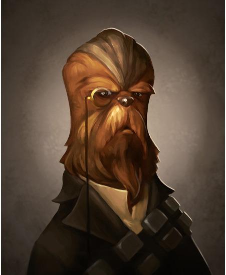 First Mate - Victorian Chewbacca - Steampunk Star Wars Art by Greg Peltz