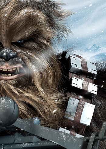 Chewbacca: Hoth Encounter by Chris Wahl - star wars art