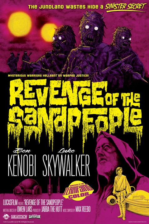 Revenge of the Sand People by Mark Daniels - star wars art