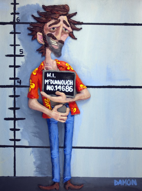 The Usual Suspect by Damon O'Keefe - Raising Arizona Art - Nicolas Cage - Coen Brothers - H.I. McDunnough