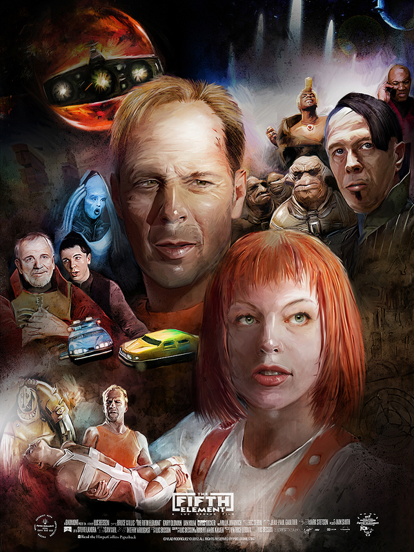 Fifth Element Poster by Vlad Rodriguez