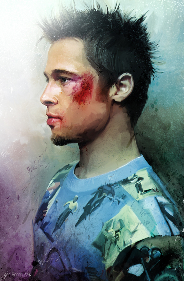 Fight Club - Tyler Durden (Brad Pitt) by Vlad Rodriguez