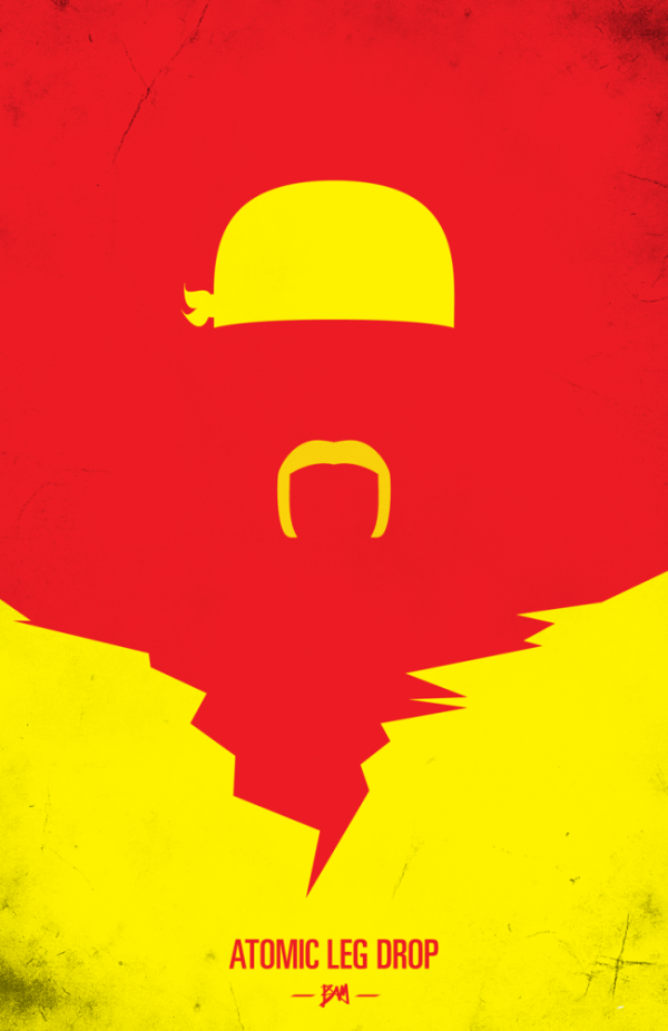 Hulk Hogan Minimalist WWF Wrestling Poster