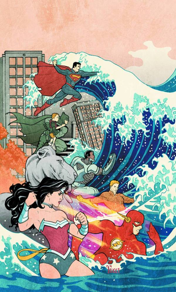 Variant cover for justice league 15 by william tucci best known for