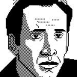 Minimal Nicolas Cage Pixel Art by Peekasso
