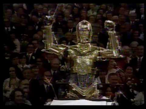 John Williams invited C-3PO to conduct the Boston Pops Orchestra with solos by R2-D2.