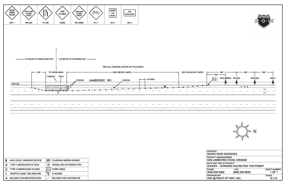 Traffic Control Plans  Engineering - Right of Way Inc - engineering proposal sample