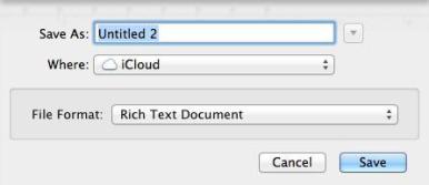 Default Folder in Mountain Lion