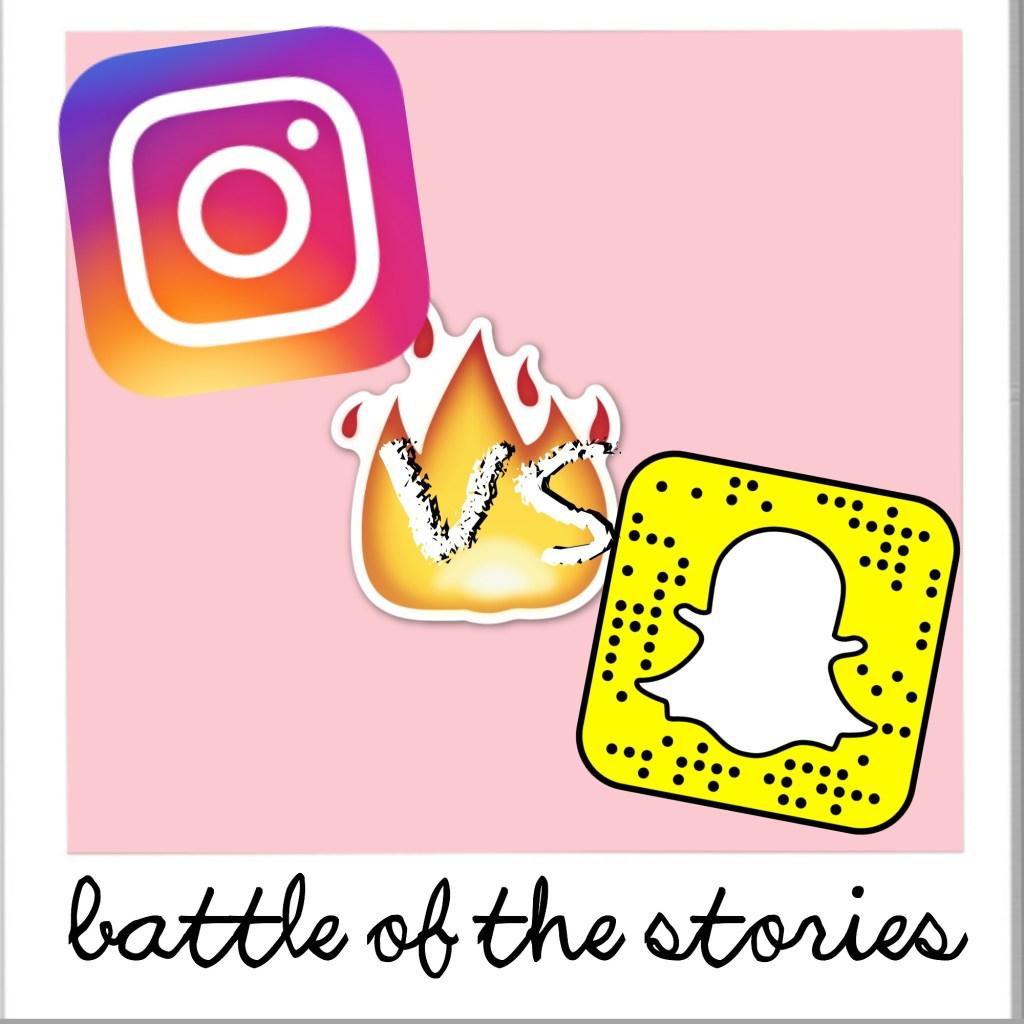 instagram vs snapchat story
