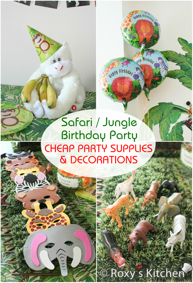 Safari   Jungle Themed First Birthday Party u2013 Cheap Party Supplies - free printable face masks