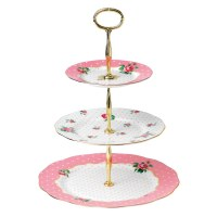 Royal Albert Cheeky Pink 3 Tier Cake Stand - Royal Albert ...