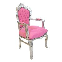 Baroque armchair pink and silver - Tiffany lamp - Bronze ...