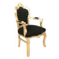 Baroque armchair black and gold - Baroque