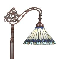 Tiffany peacock floor lamp - Tiffany lamps - Bronze sculptures