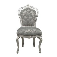Silver baroque chair rococo - Baroque furniture