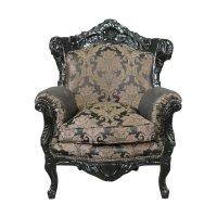 Black wooden baroque armchair - Baroque furniture