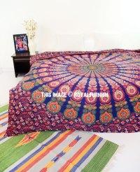Multi Colorful Decorative Trippy Peacock Boho Mandala ...