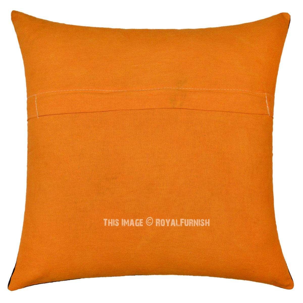 Orange Yoga Meditation Om Aum Chakras Tie Dye Throw Pillow