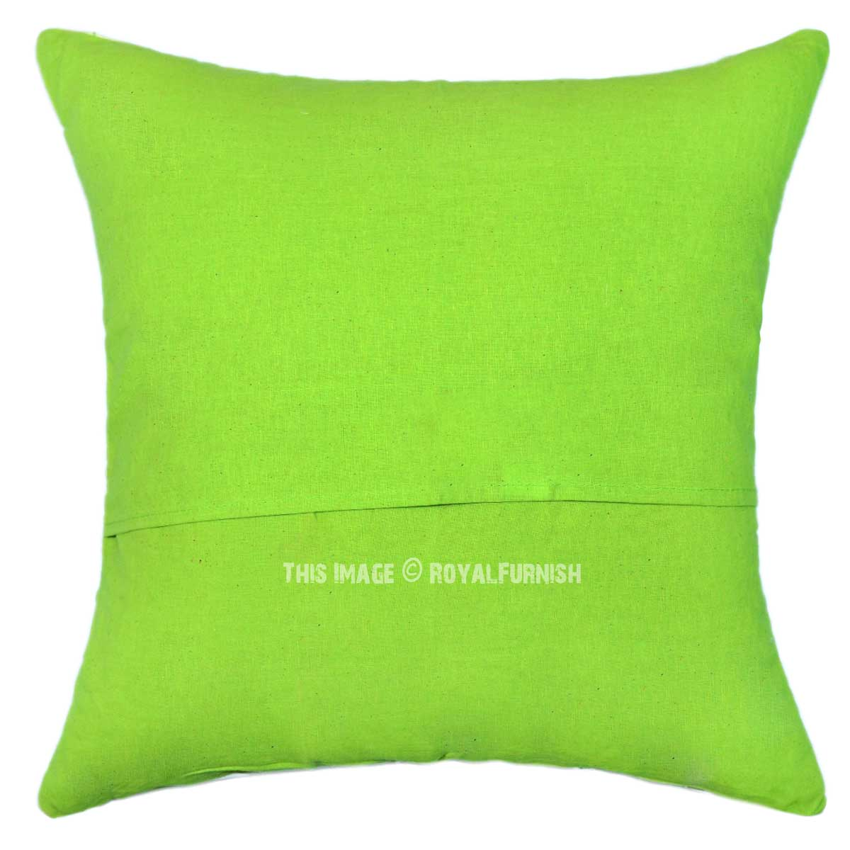 "16"" X 16"" Parrot Green Decorative Zig Zag Ikat Throw"