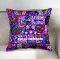 Purple Decorative and Bohemian Accent Unique Patchwork ...