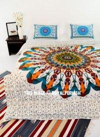 Brown & White Multi Trippy Boho Mandala Bedding Duvet ...