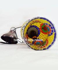 Ceiling Hanging Turkish Mosaic Glass Pendant Lamp Lantern ...