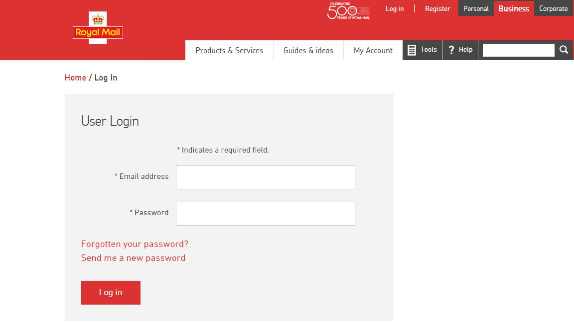 How do I pay my invoice online using my royalmail login?