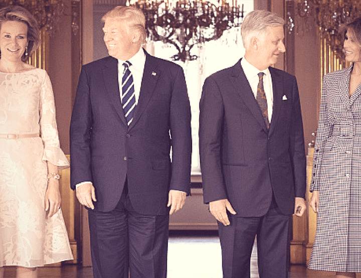 King Philippe Meets President Donald Trump