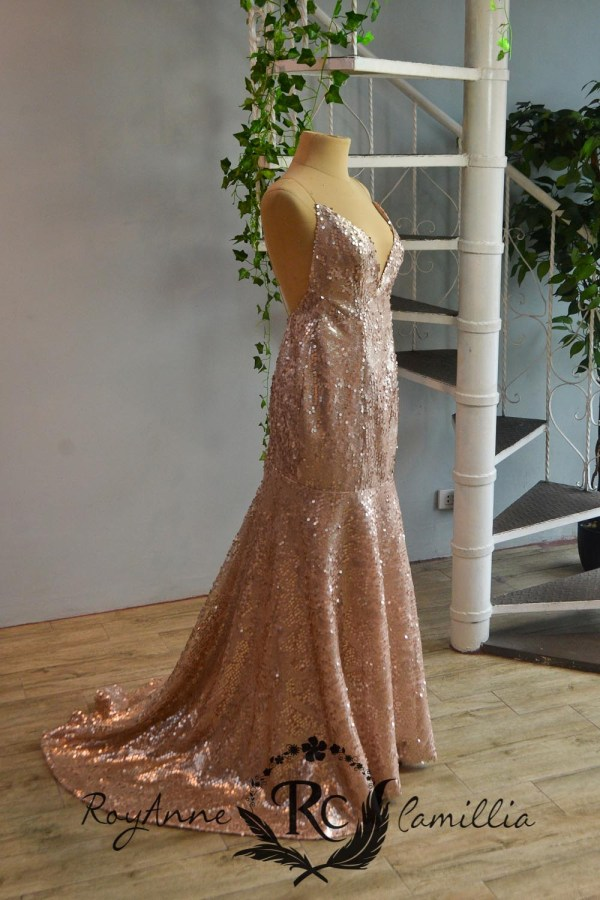 rose gold rental gown by royanne camillia the best gowns in manila Philippines
