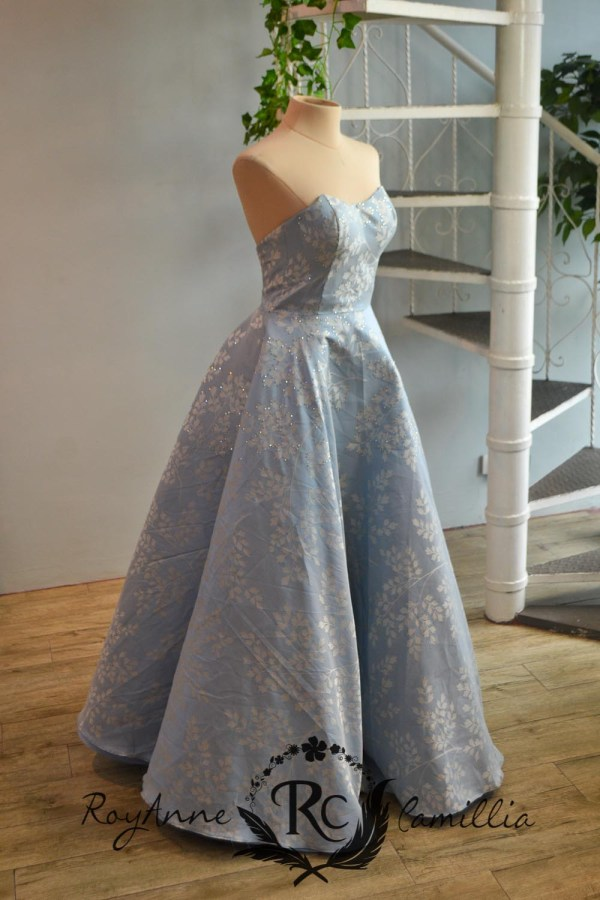 blue rental gown by royanne camillia the best gowns in manila Philippines