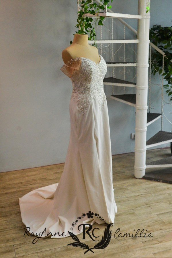 white rental gown by royanne camillia the best rental gowns in manila