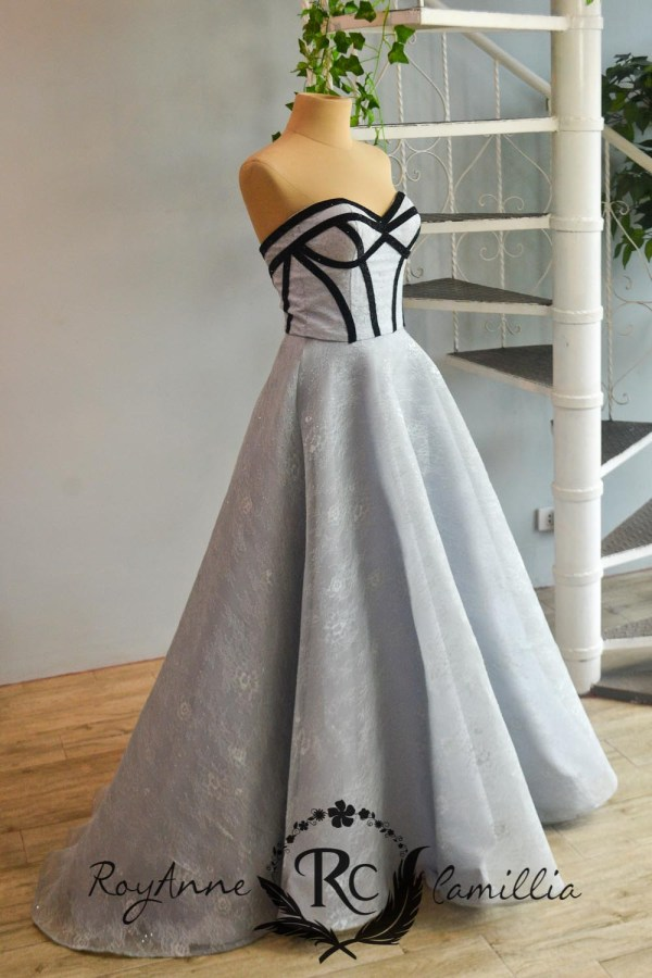 blue rental gown by royanne camillia - the best rental gowns in Manila