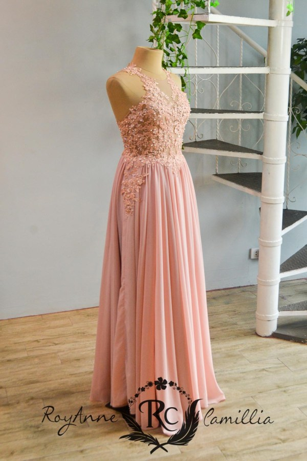 pink rental gown