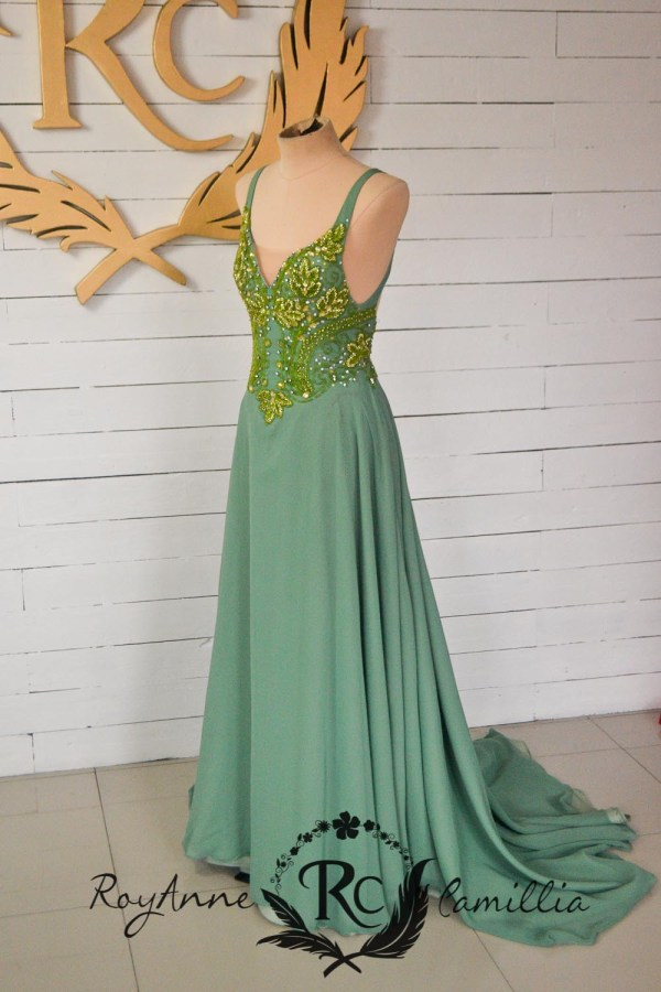 green rental gown by royanne camillia - the best rental gowns in manila
