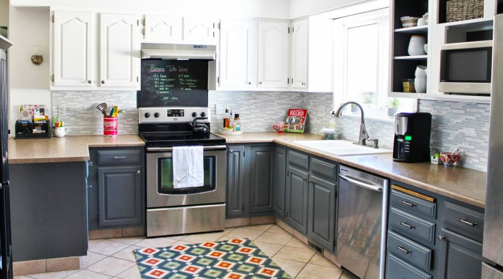grey kitchen cabinets with white kitchen cabinets for two black and gray kitchen cabinets with carpet and ceramic tile flooring