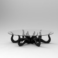 Octopus Coffee Table with Detailed Sculpture | Roy Home Design