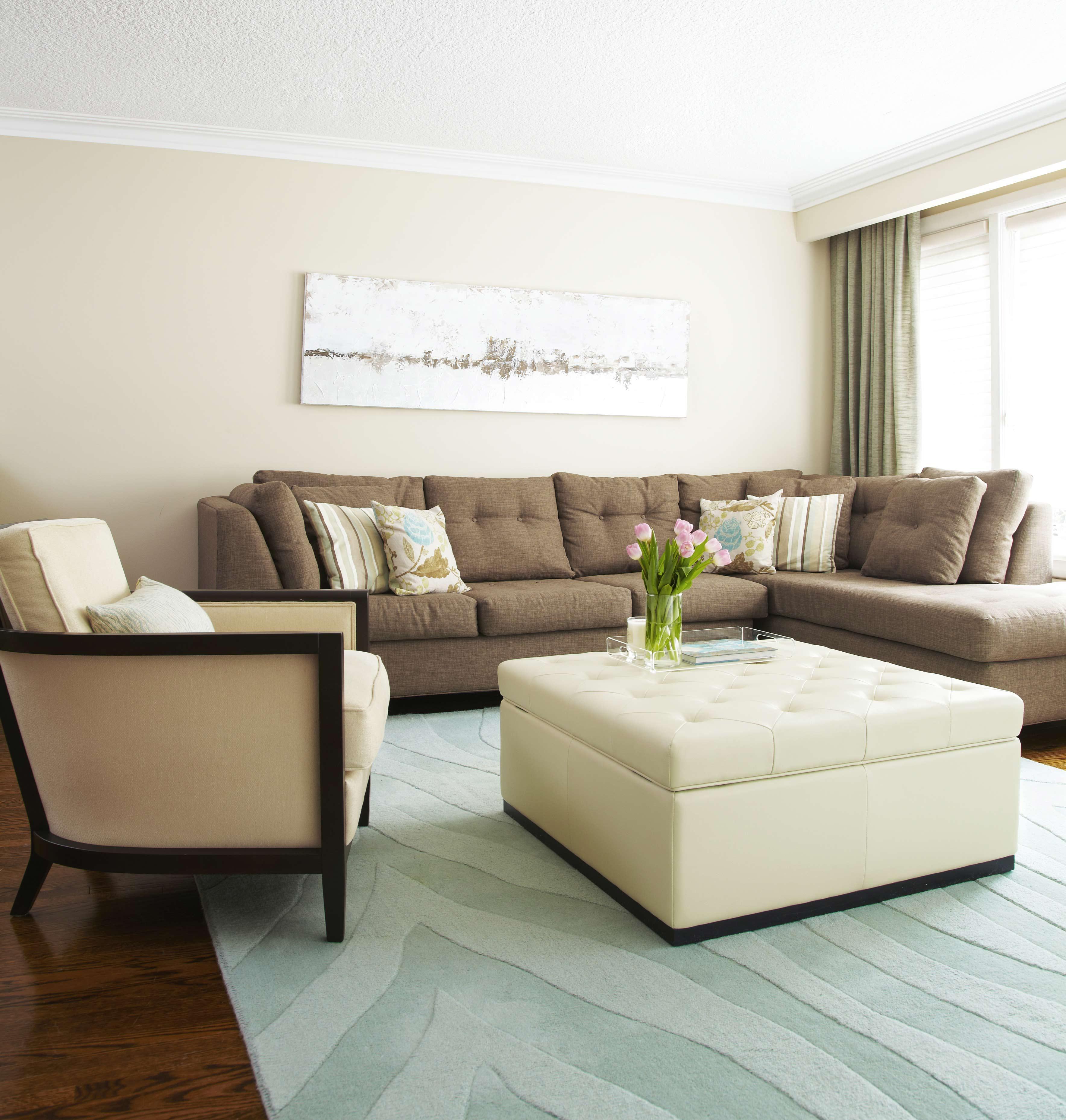 White Leather Ottoman Coffee Table Furniture