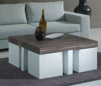 Round Coffee Table With Seats Underneath | Roy Home Design