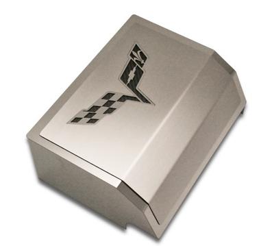 C6 Corvette Fuse Box Cover w/C6 Flags Logo - RPIDesigns