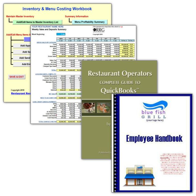 Kitchen Sink Special Option #1 Menu Costing, Spreadsheet Library