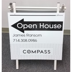 Small Crop Of Open House Signs