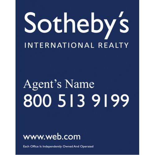 Sothebys For Sale Sign, 30x24 - forsale sign