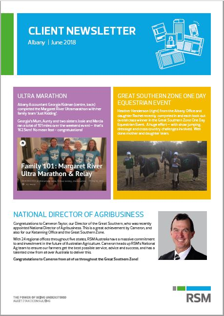 RSM in Albany - Local Client Newsletter RSM Australia