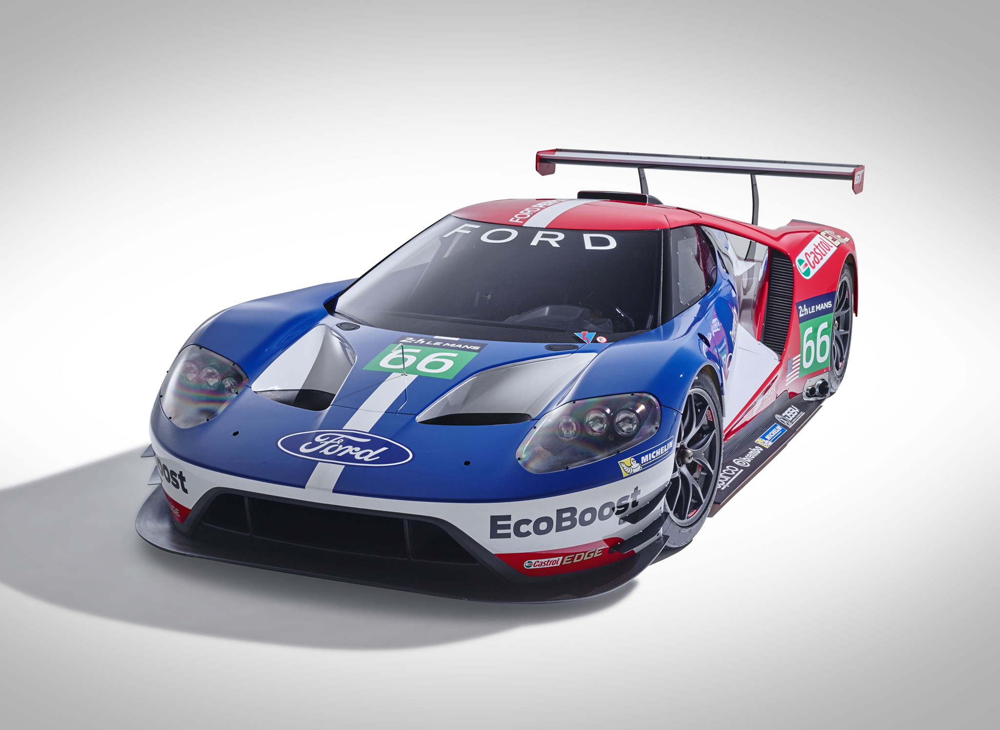 Project Cars Wallpaper Red 2016 Ford Gt Wec Race Car Front Photo Size 2048 X 1495