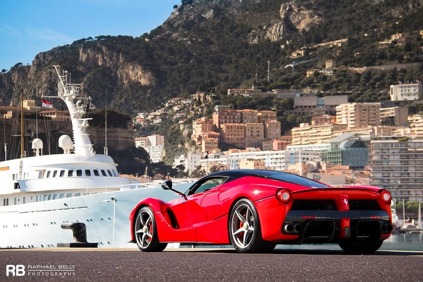 Rolls Royce Car Hd Wallpapers 1080p 2014 Ferrari Laferrari In Rosso Corsa Color Rear Photo