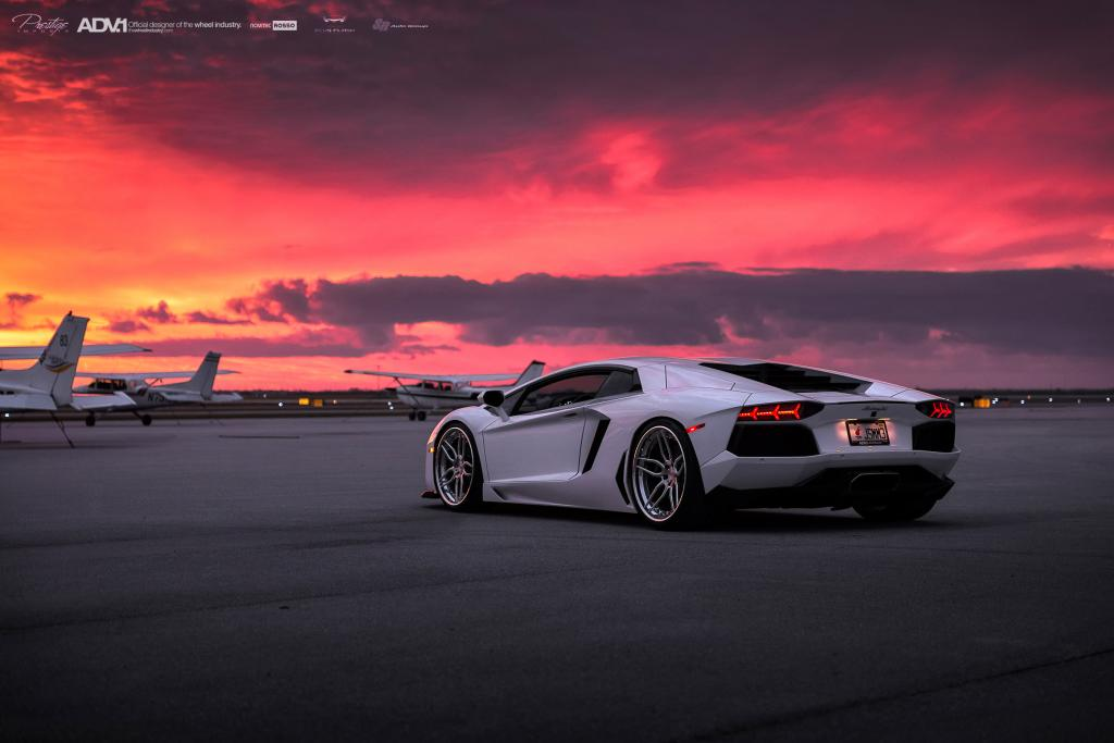 Mazda Race Car Wallpaper White Lamborghini Aventador With Adv005 Track Spec Sl