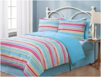 Twin Geo Stripes Multi Reversible Girls Twin Bedding Sets ...