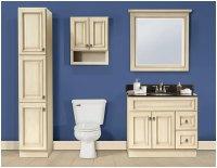 Antique White Bathroom Cabinets and Furniture   Interior ...